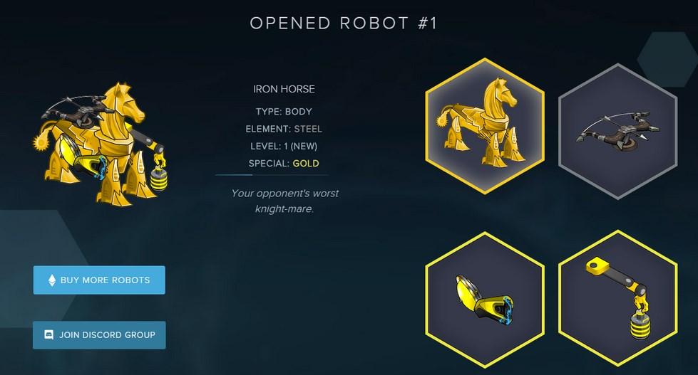 Etherbots : Le nouveau jeu de robot Ethereum cartonne