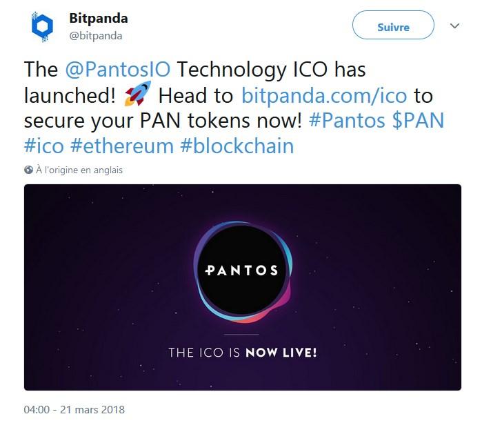 BitPanda a lancé une ICO pour son nouveau projet Pantos (PAN)