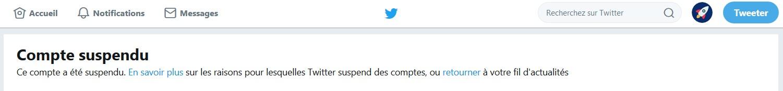 Le compte twitter @Bitcoin est suspendu une nouvelle fois