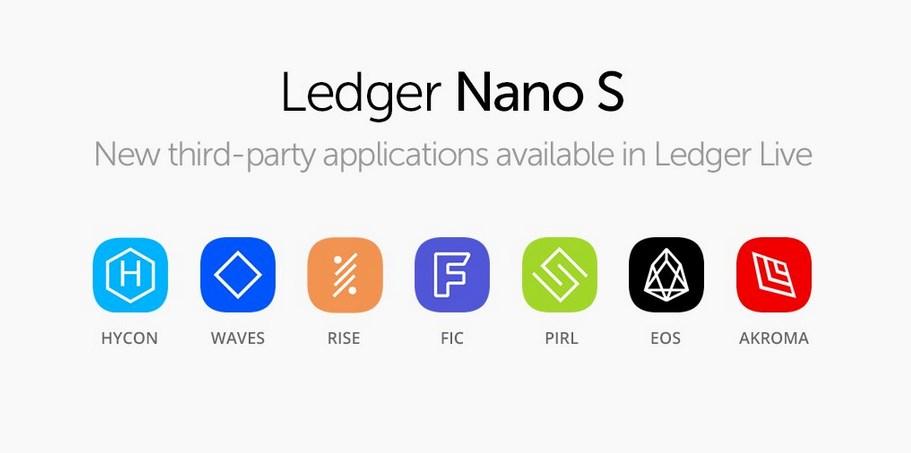 Ledger annonce le support pour EOS, Waves et 6 autres crypto-monnaies