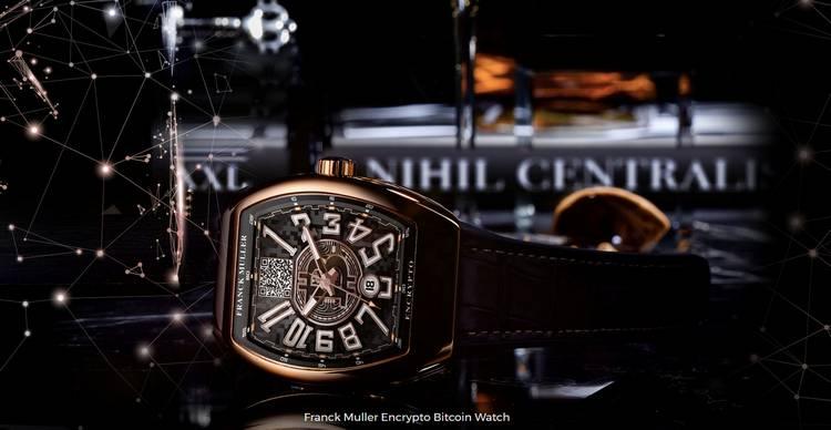 L'horloger suisse Franck Muller dévoile une montre Bitcoin