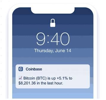 Coinbase ajoute une fonctionnalité d'alerte de prix sur son application mobile