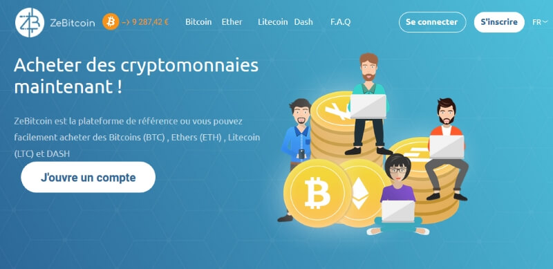 ZeBitcoin - page d'acceuil