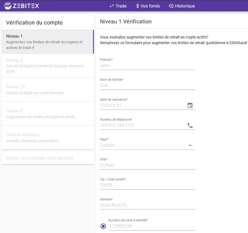 ZeBitex - Vérification niveau 1