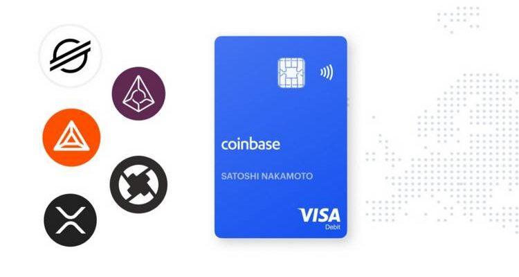 La carte Coinbase prend maintenant en charge XRP, XLM, BAT, ZRX et REP