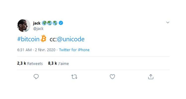 Twitter ajoute un hashtag personnalisé pour Bitcoin