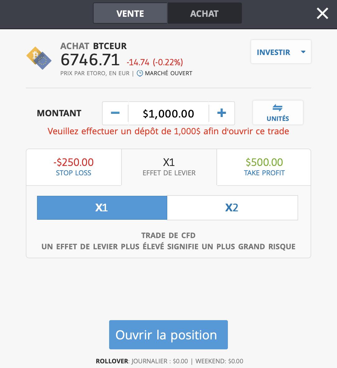 Acheter Bitcoin PayPal - Ordre de bourse sur la plateforme eToro