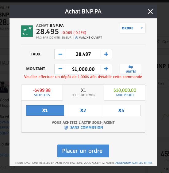 acheter l'action bnp
