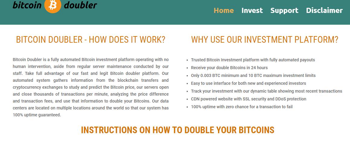 Comment fonctionne le système Bitcoin Doubler?