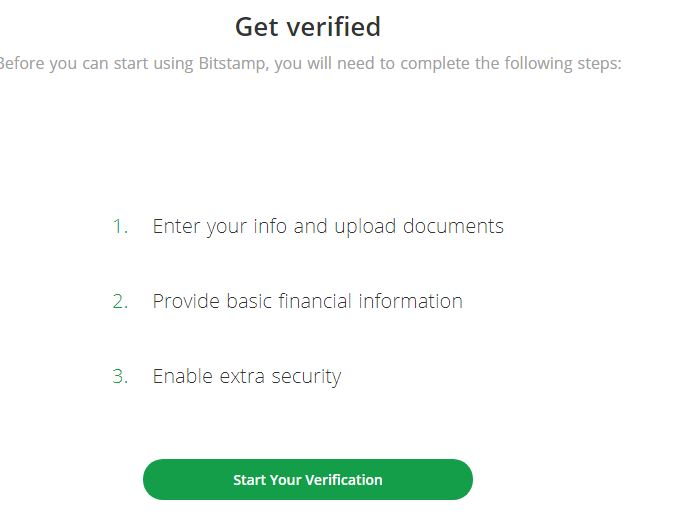 verification sur bitstamp
