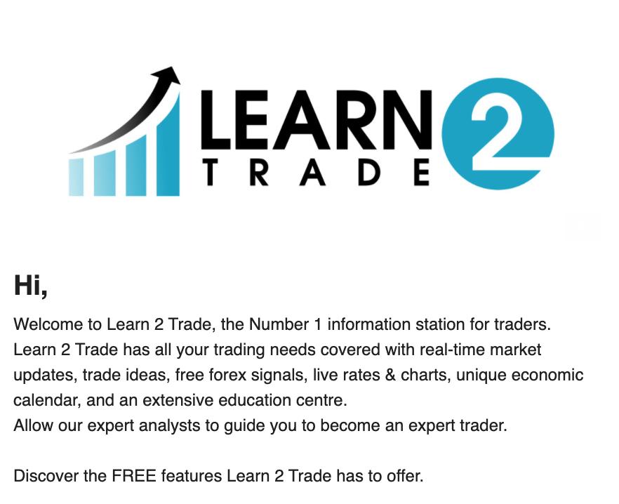 Confirmer son compte Learn 2 Trade