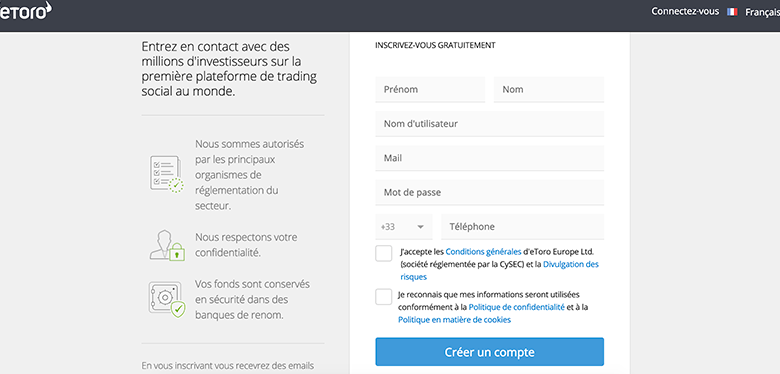 Étape 2 :Ouvrir un compte de trading