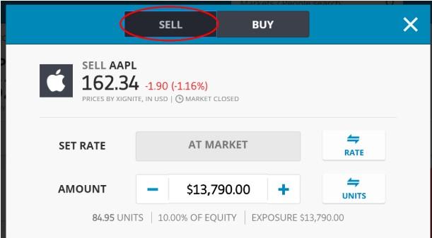 Ouvrir une position de trading