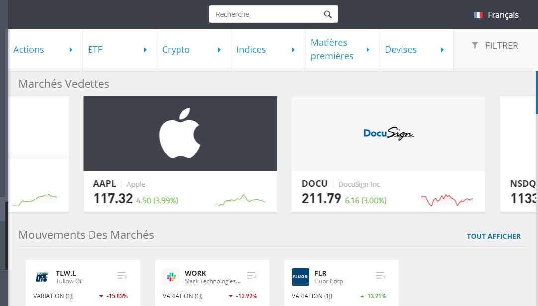 Les produits financiers : actions