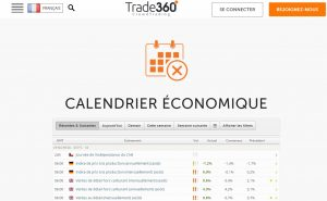 avis trade360 calendrier