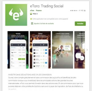 application bourse etoro
