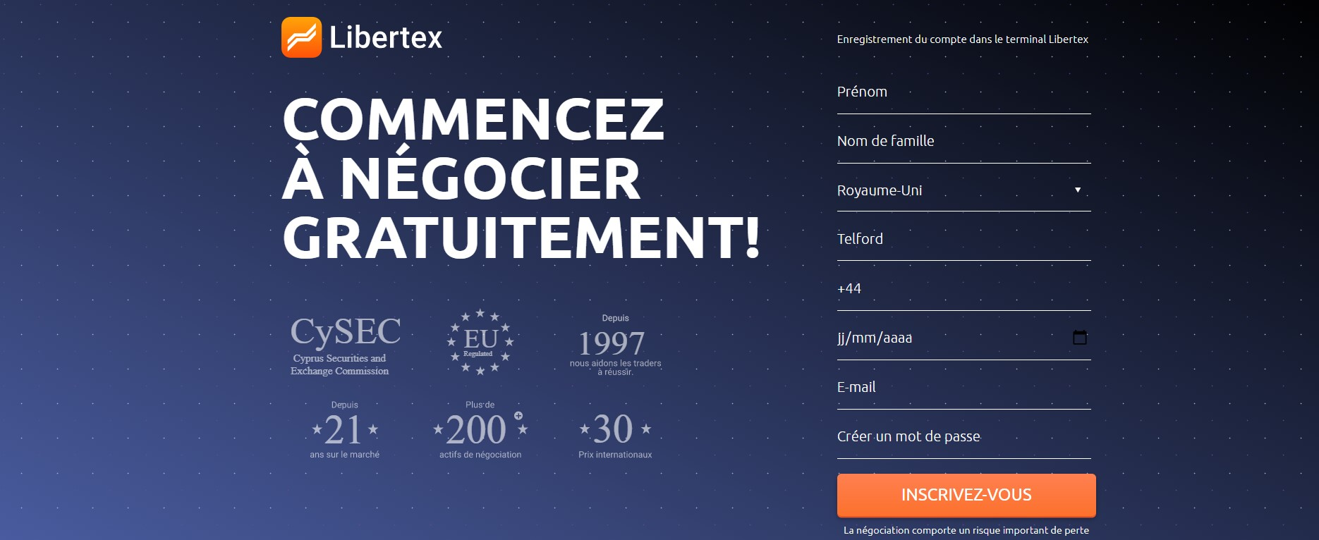 investir dans cours dash avec libertex