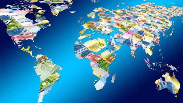 Répartition argent dans le monde