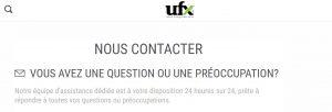 contacter UFX avis