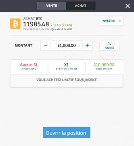 Acheter des Ethereum ou des Bitcoin sur eToro