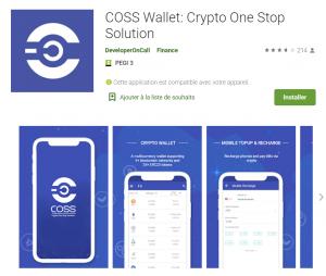 Coss wallet