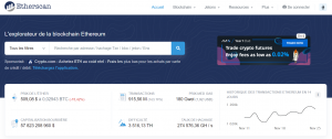 etherscan homepage