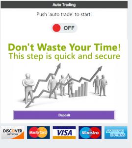 Étape 3: Déposer des fonds avec Bitcoin Trader