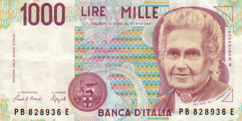 Italie billet de 1000 lire