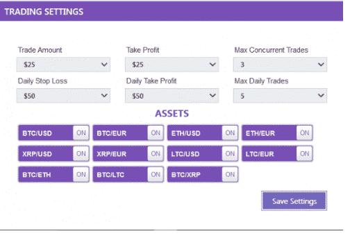 Étape 4: Ajuster les paramètres et activer l'auto-trading