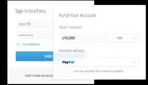 Étape 4: Créditez votre compte (200$ au minimum)