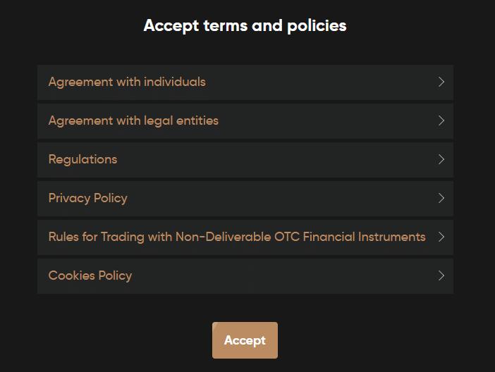 Accepter les termes et conditions Capital.com acheter Dogecoin