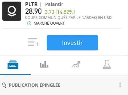 Investir dans Palantir