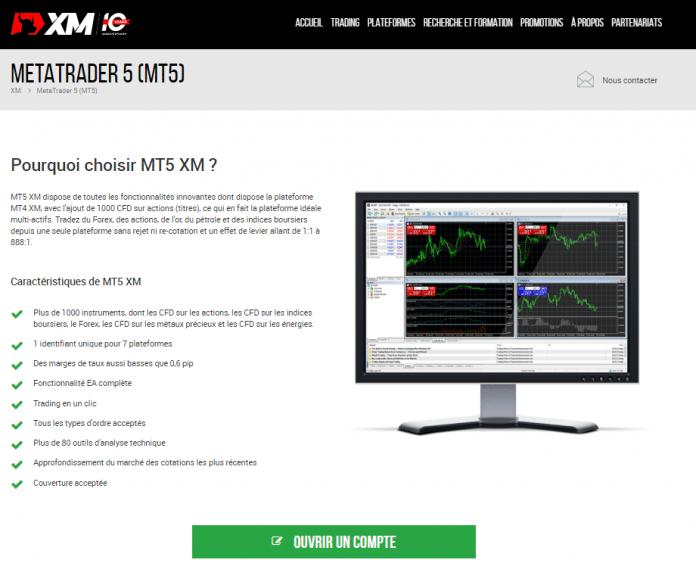 2. Télécharger MetaTrader 5 avec le broker XM