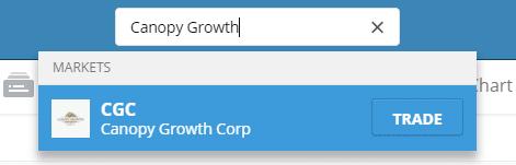 Recherche Canopy Growth investir dans le cannabis