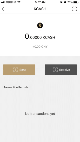 4. Envoyer vos Cryptos avec Kcash Wallet