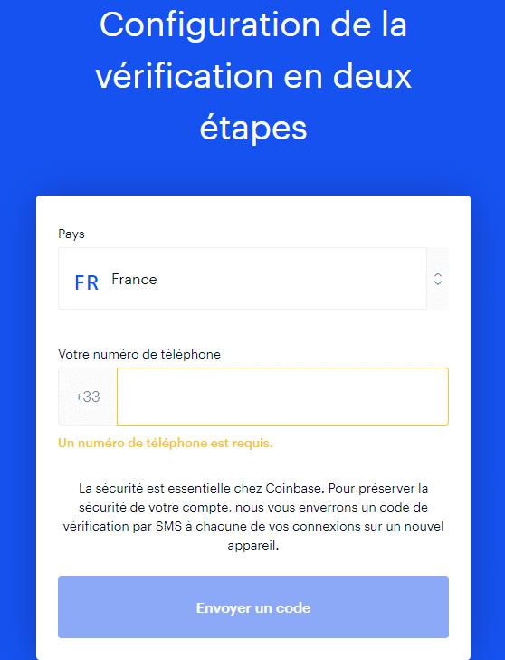 Coinbase vérification