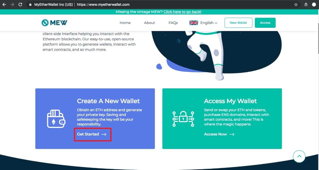1. Créer un nouveau portefeuille sur MyEtherWallet
