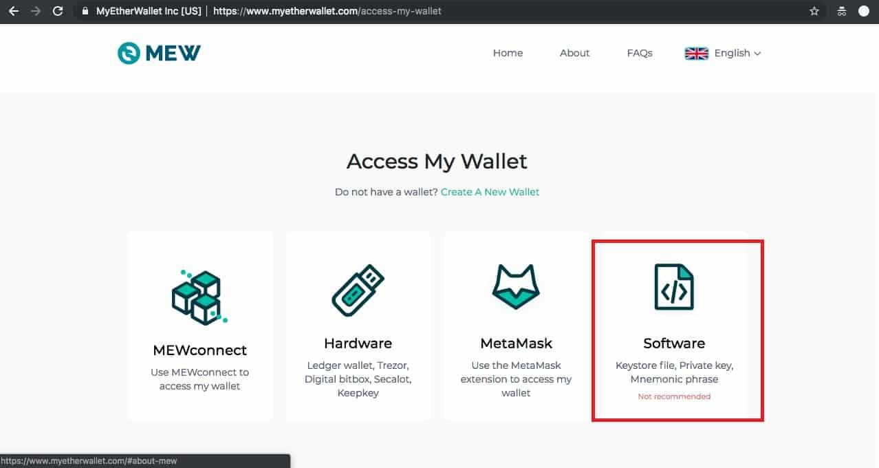 Déblocage de votre portefeuille