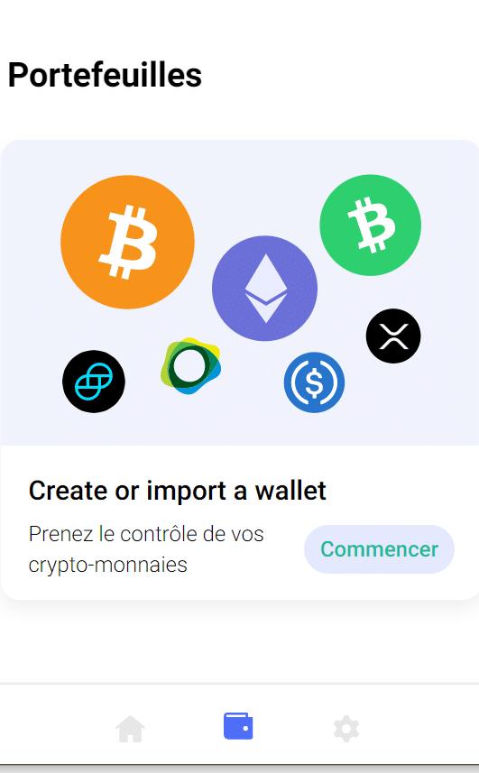Créer un portefeuille Copay