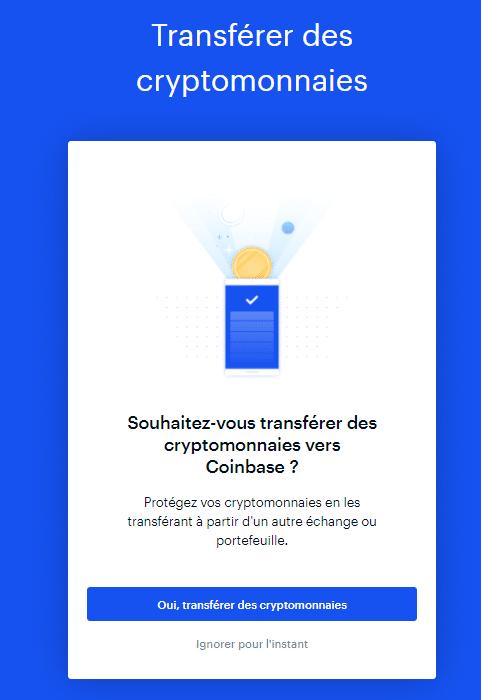 Dépôt Coinbase