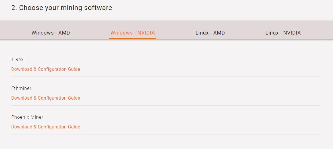 Ethermine software