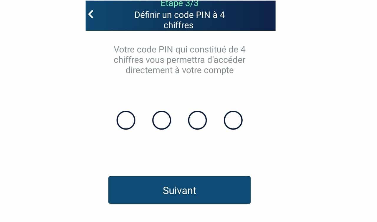 Choisir un code PIN