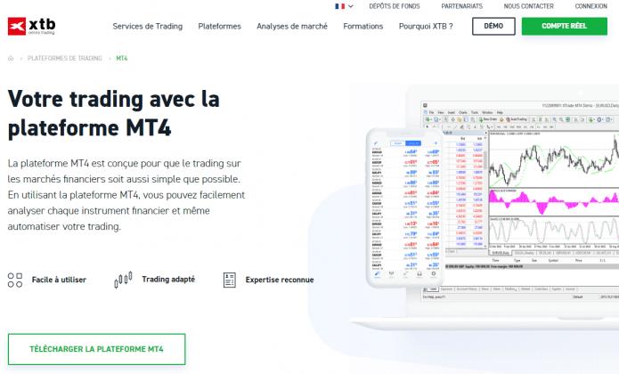 Télécharger MetaTrader 4 mac sur XTB