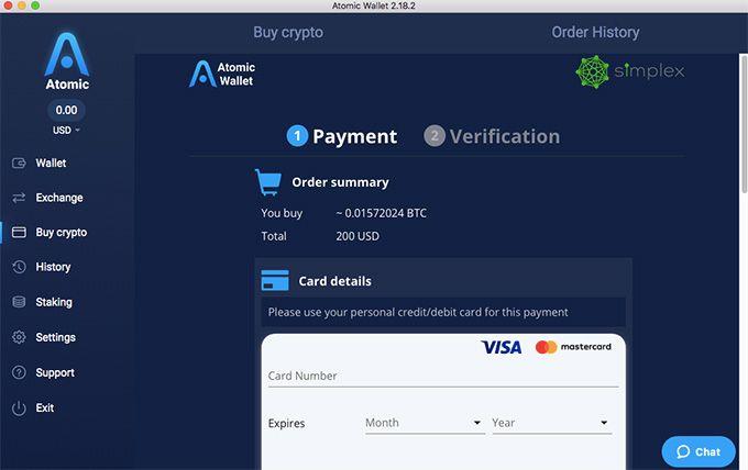 3. Commencez à acheter / vendre les crypto monnaies avec Atomic Wallet