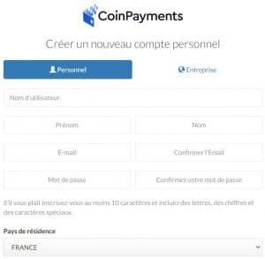 coinpayments start