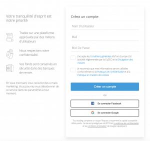 Etape 2 : Créer un compte sur la plateforme