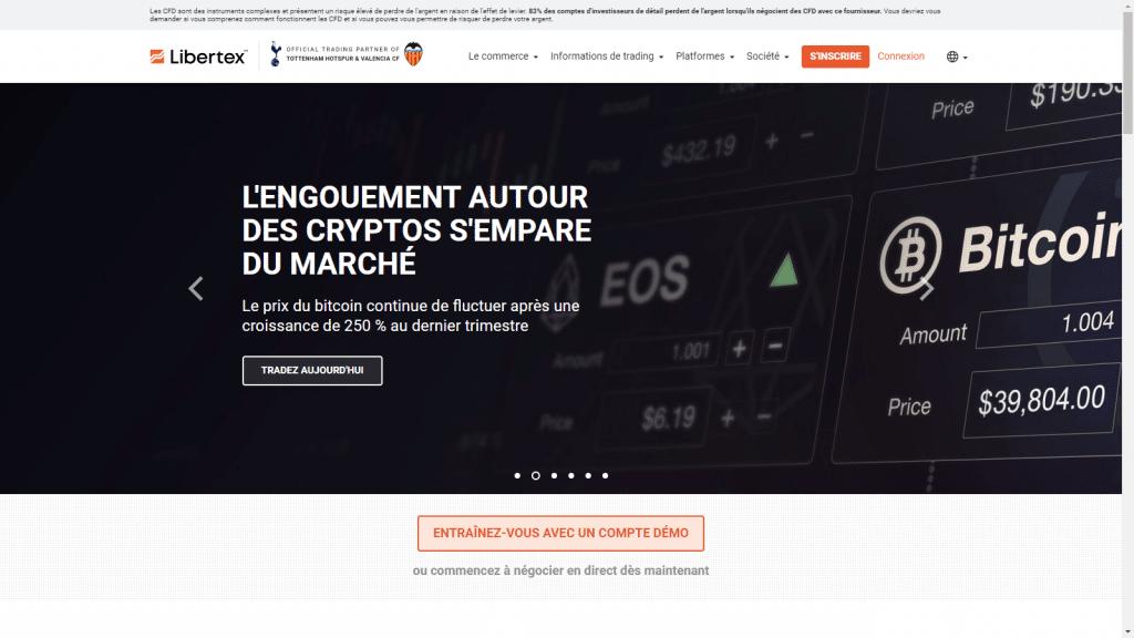 page d'accueil Libertex