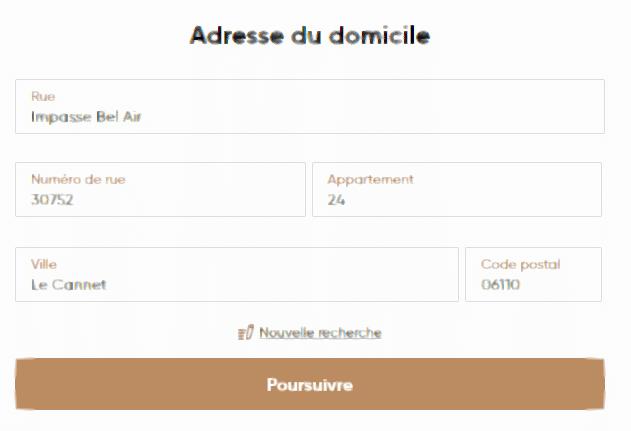 Adresse du domicile Capital.com