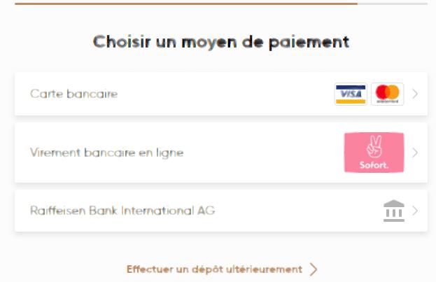 Moyen de paiement Capital.com
