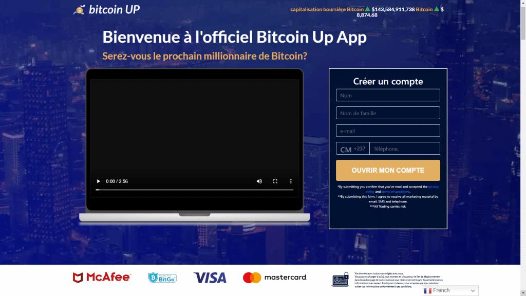 Ouvrir un compte Bitcoin UP